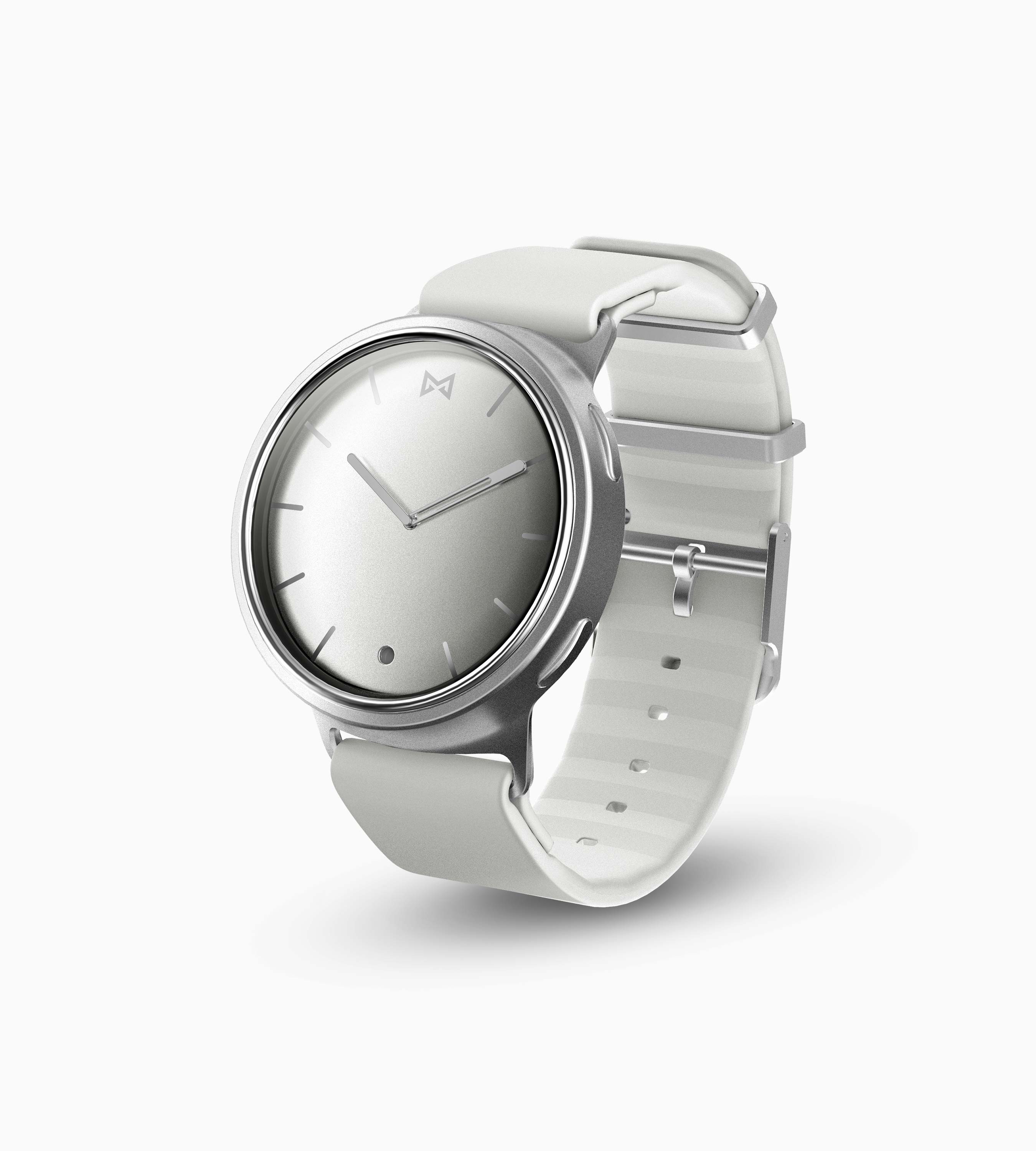 Misfit Phase Hybrid Smartwatch (Silver & White)